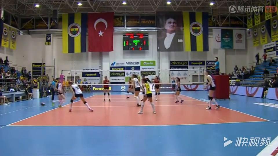 土耳其联赛第二十轮,瓦基弗银行31胜费内巴切,朱婷狂砍18分!