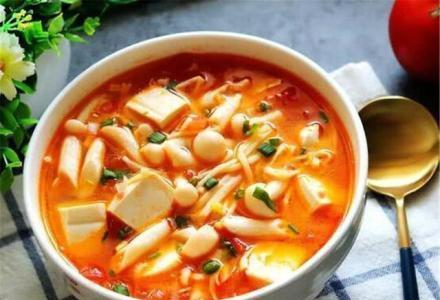 培根泡沫塑料豆腐汤、马铃薯茄子、蘑菇豆腐汤的生产实践
