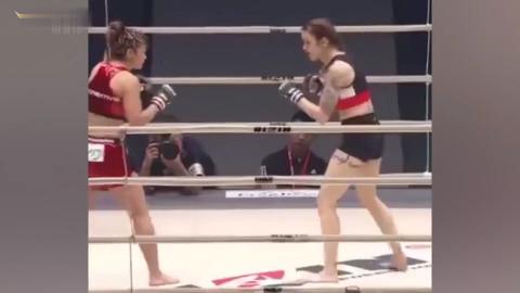 日本第一格斗美女一记重拳打到对手面部扭曲真正的女汉子