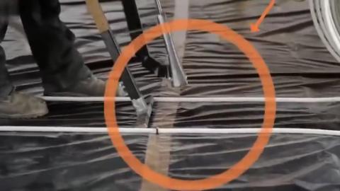 为什么老外铺设地热管子总是那么规整有速,原来是工具好啊