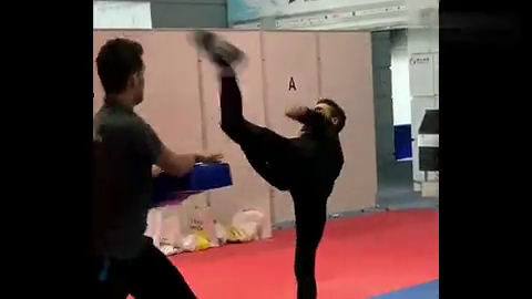 跆拳道:伊朗人踢靶子,太给力了!