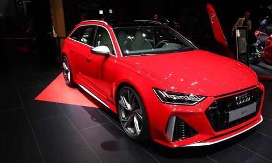 红色外观更加动感,全新奥迪RS6 Avant法兰克福车展实拍图发布