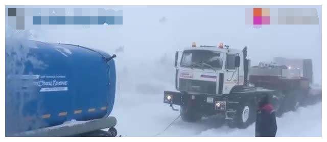 战斗民族果然彪悍,零下30度,看卡车司机是怎么开车的