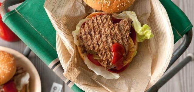 特色风味的澳洲牛肉汉堡