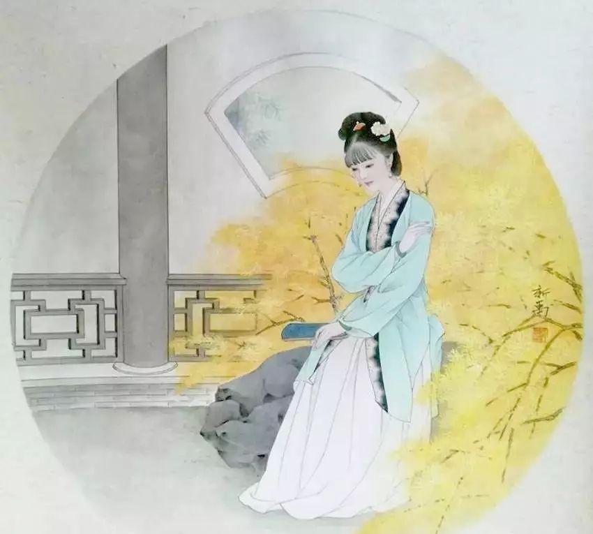 扇面版金陵十二钗手绘图,分享给喜欢红楼梦的你(值得珍藏!