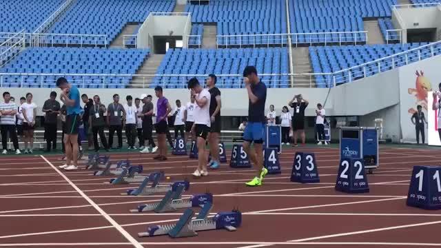 弹射视频告诉你飞人苏炳添是如何训练百米起跑的太强了
