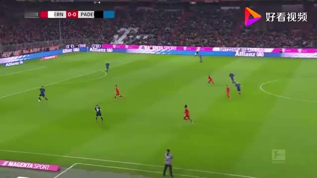 德甲-莱万双响+绝杀 格纳布里独造3球  拜仁3-2帕德博恩集锦