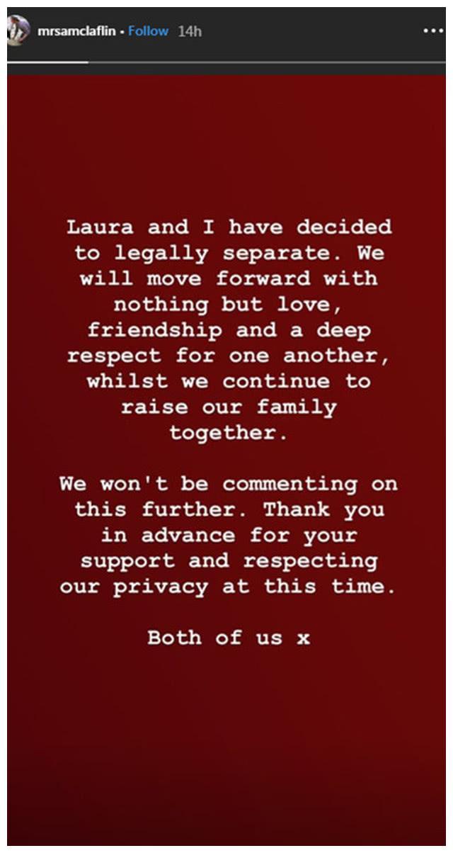 又一对明星夫妇结束6年婚姻,《饥饿游戏》山姆克拉弗林宣布离婚
