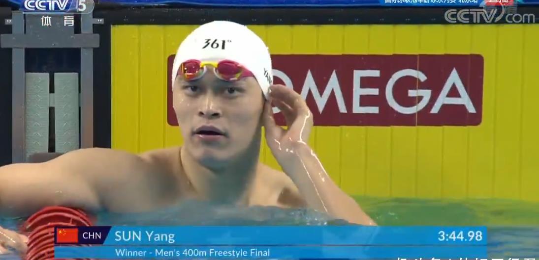 狂甩劲敌近5秒!孙杨毫无悬念夺世界赛400自冠军 东京将决战霍顿