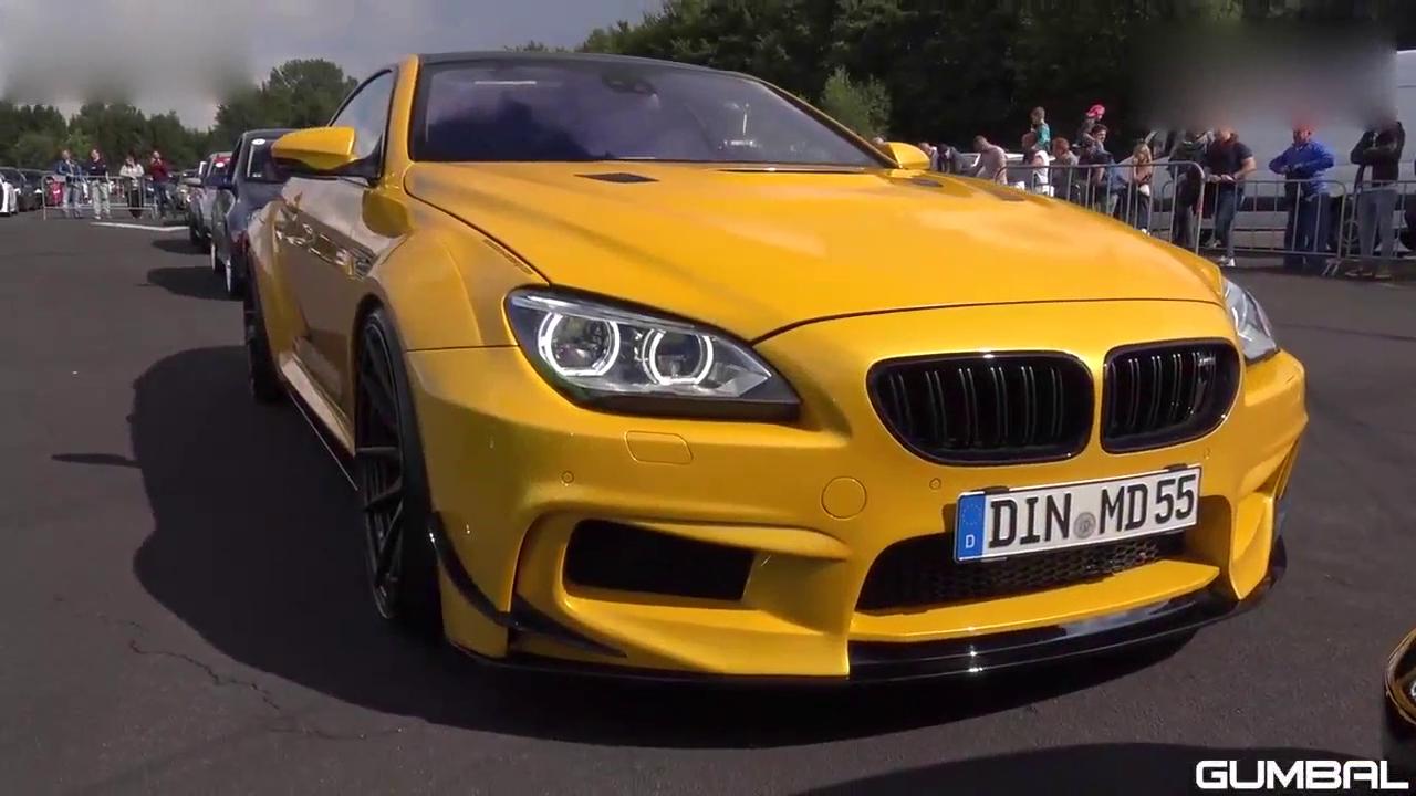 视频:黄色的暴力怪兽!宝马BMW 650i MD宽体跑车