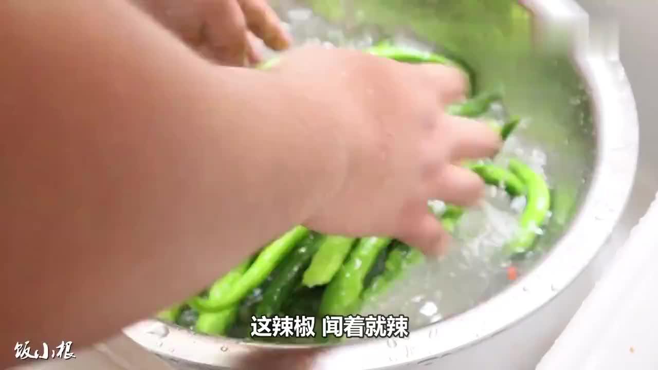 宿州小根2斤朝天椒5片豆干一起爆炒一大盆盖饭辣到流口水