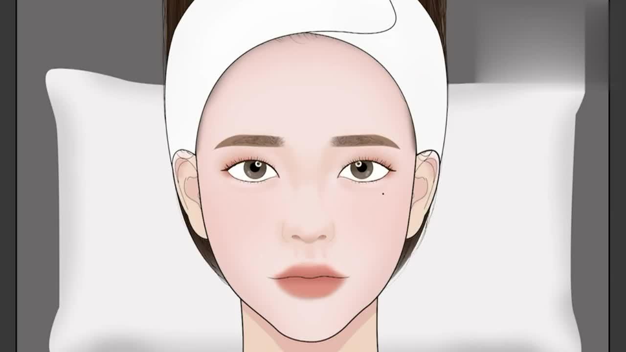 趣味定格动画美容院皮肤护理过程祛痘去黑头看得很过瘾