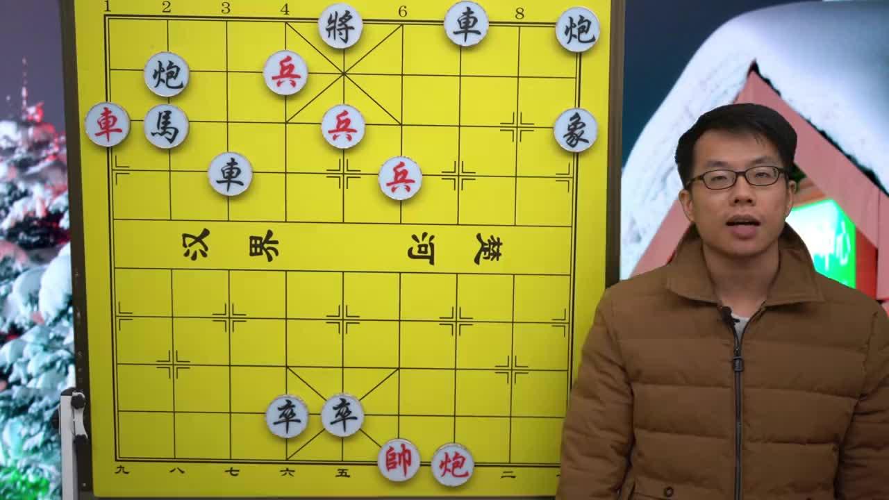 黑方两边都有杀棋正常人都认输了红方大爷却毫不示弱高手啊