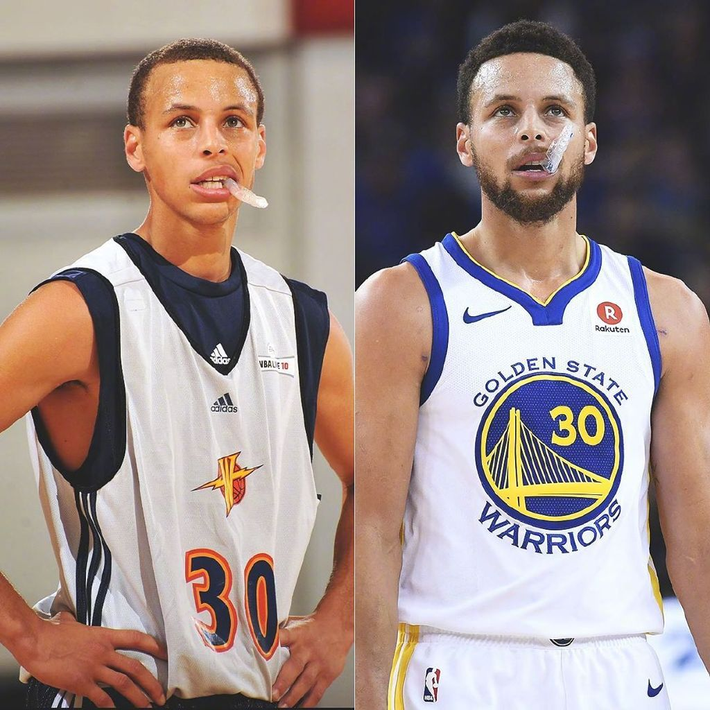 进NBA后变化多大?库里就好像才打第二个赛季一样