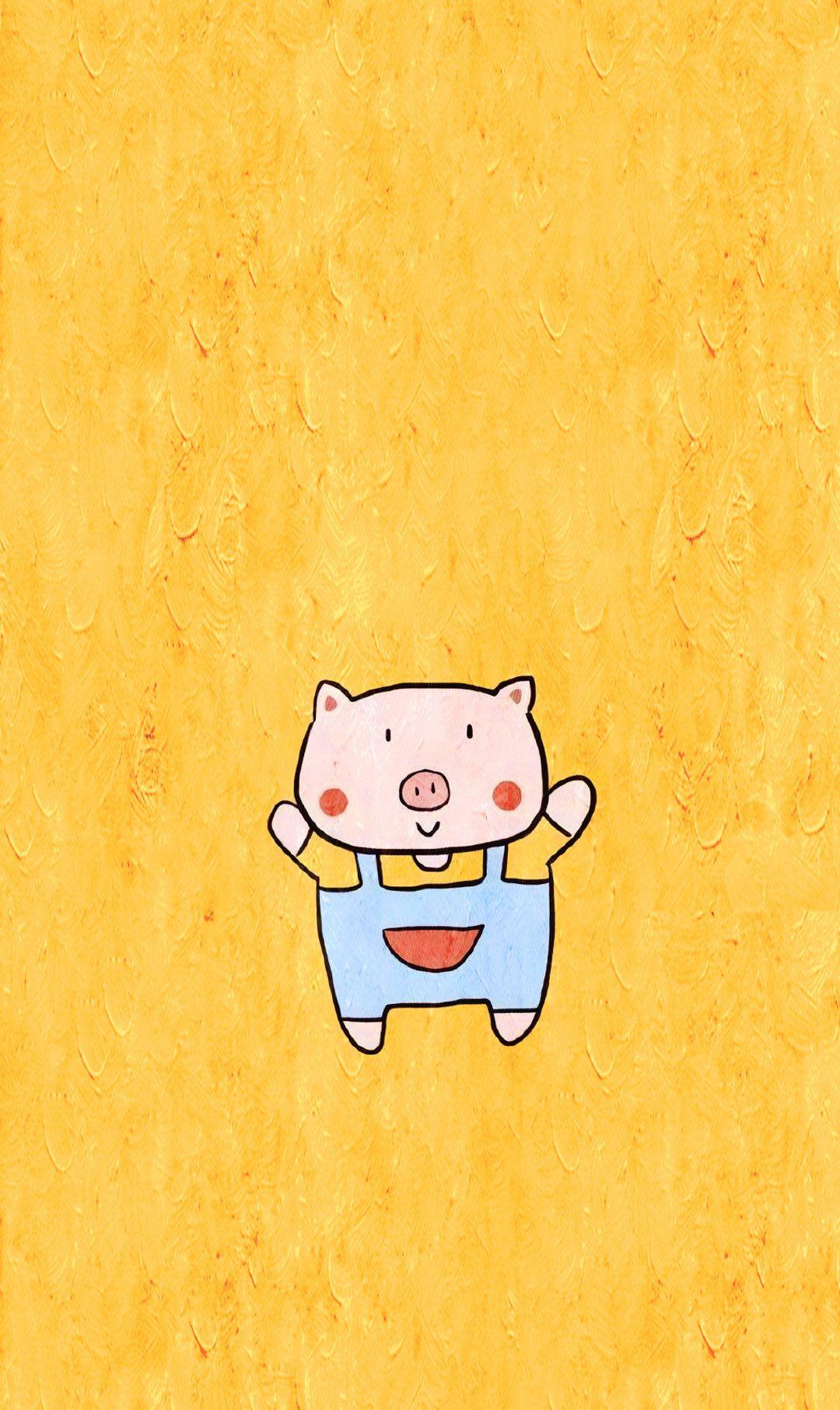 动漫壁纸:猪年手机壁纸!呆萌可爱的小粉猪比佩奇还要讨人喜欢