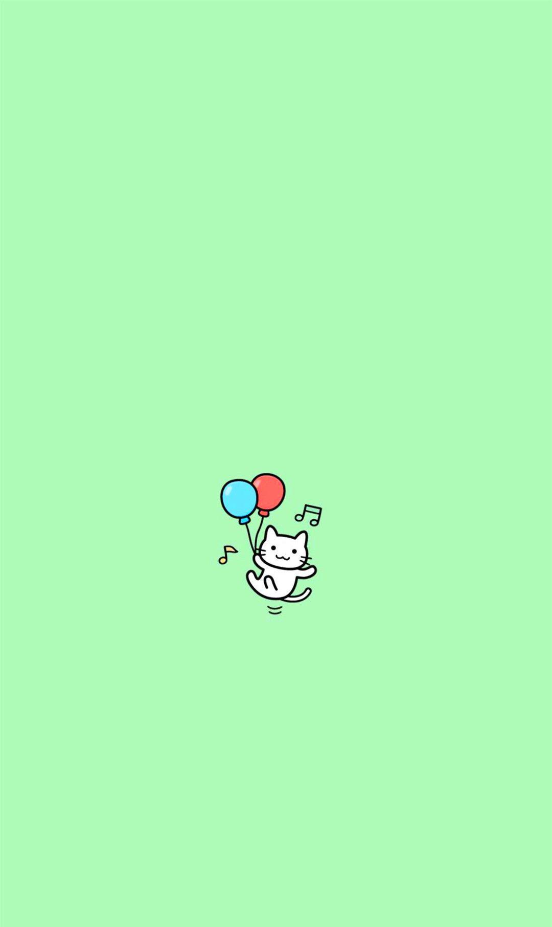 动漫手机壁纸:最爱的清新文艺风格!小猫咪简直萌翻了