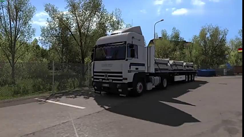 欧洲马力模拟2:470货柜斯堪尼亚双卡车卡车送古惑仔图解图片