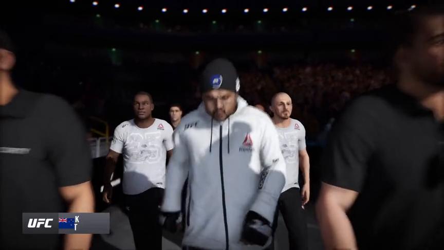 UFC世界循回赛李小龙与澳洲冠军马克·亨特激烈较量,精彩异常