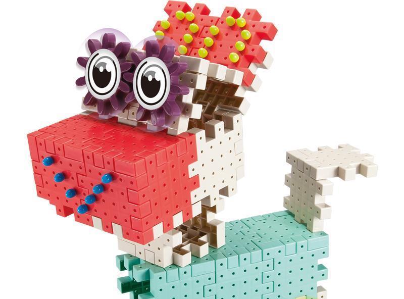 有趣的积木,鲜艳的色彩,儿童想象力的有效利用