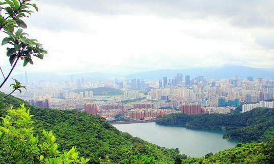梅林最高峰, 可全方位俯瞰三区景色, 是观澜河的源头!