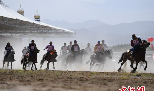 """甘肃素北的""""纳摩丝路""""赛马是丰富多彩的。"""