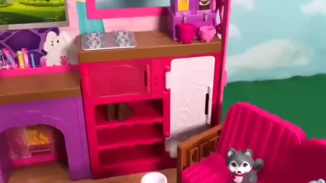 拆装芭比娃娃的露营小房子,厨房用品和烧烤工具实力抢镜!