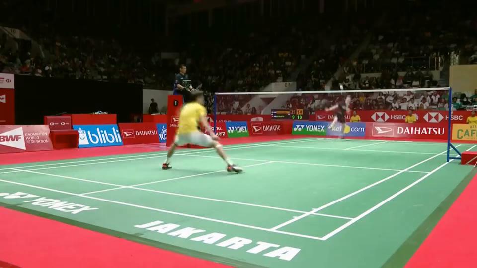 安东森vs李卓耀2020羽毛球印尼大师赛男单半决赛精彩集锦