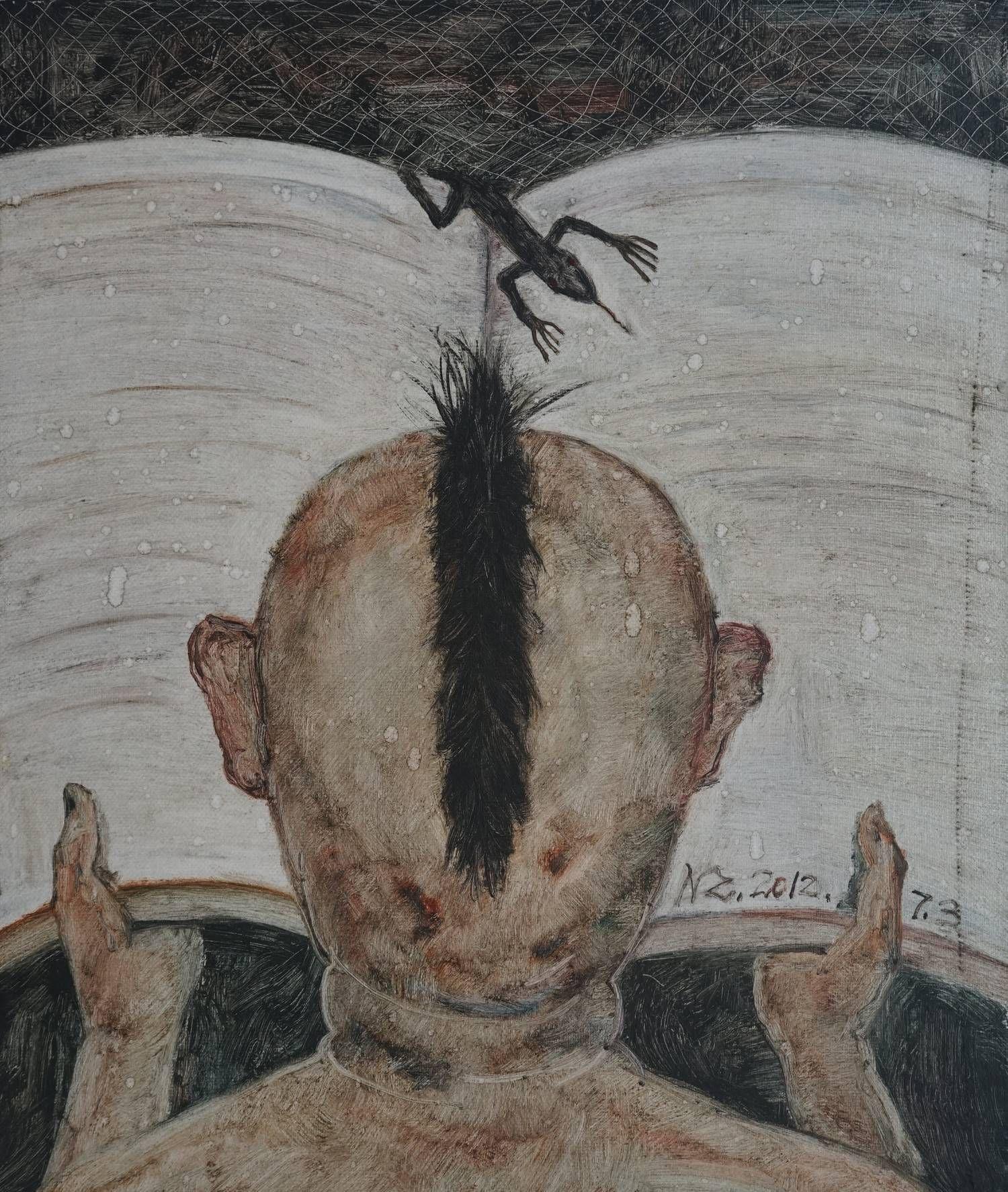 四川美术学院毕业生聂力早期的油画作品,不知道你能不能看懂