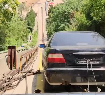 汽车撞击护栏检测45度高速撞击