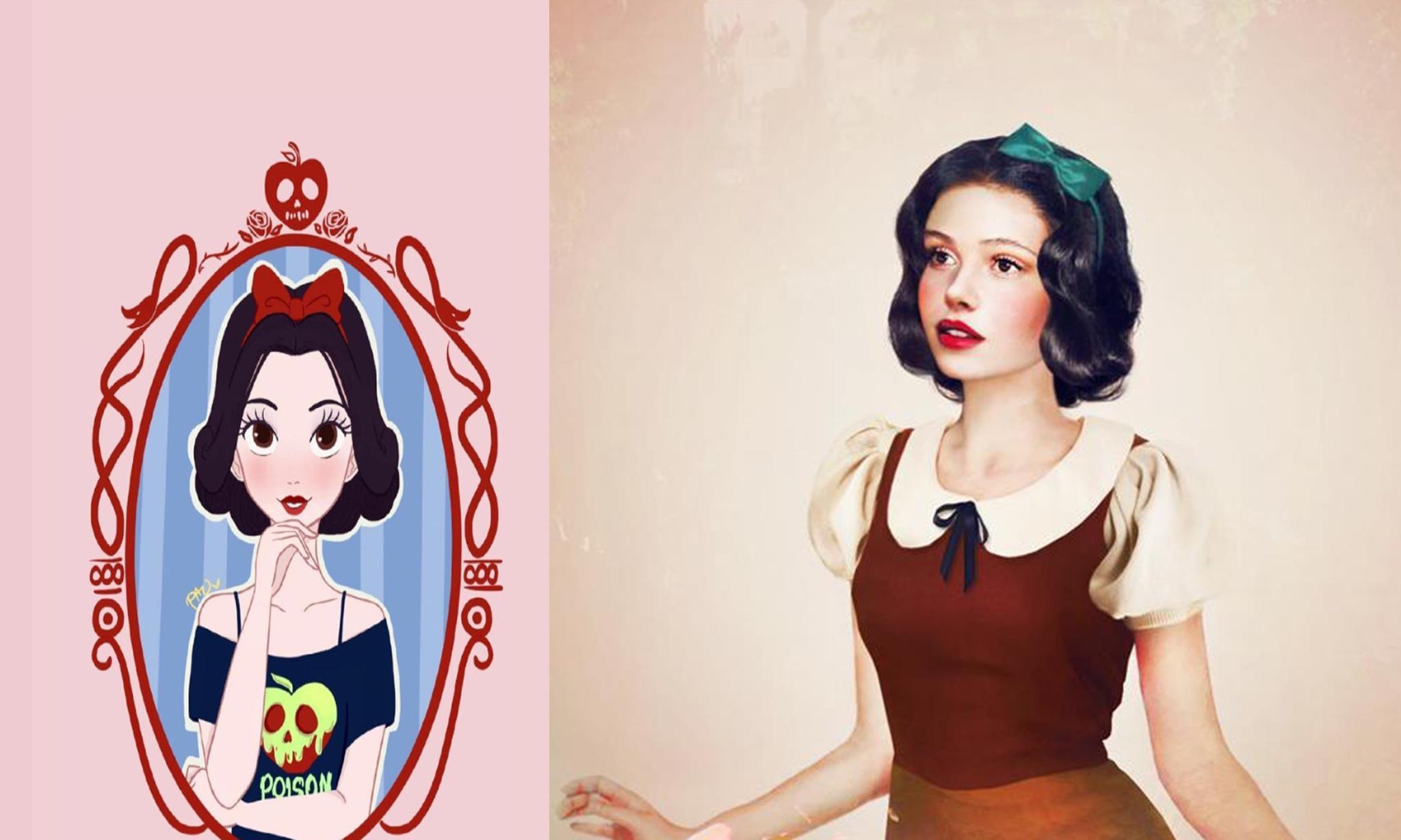 迪士尼公主真人画风,艾莎眼影很浓像反派,安娜公主范十足