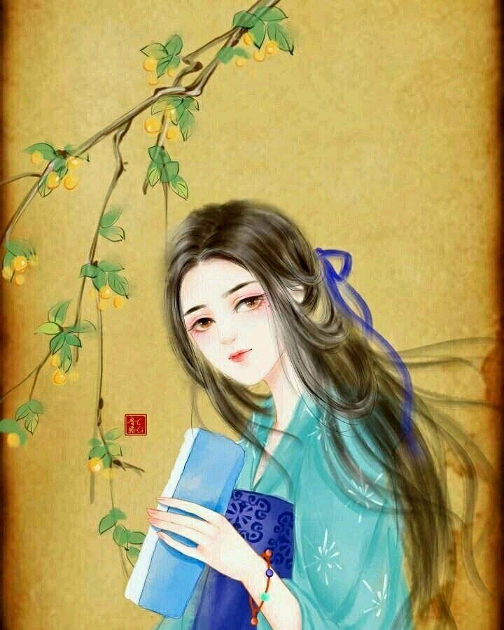 古风手绘女生唯美壁纸,我这一生多情,却也次次真心