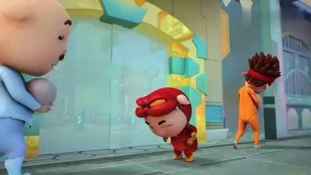 猪猪侠小猪猪借蛋借不来阿五只好去抢这下好了被人追着跑