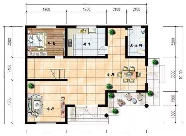 """农村自建房,""""客厅""""做多少平米比较实用?"""