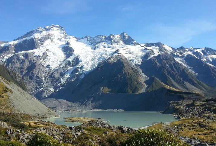 库克山国家公园建于1953年,位于新西兰南岛中西部