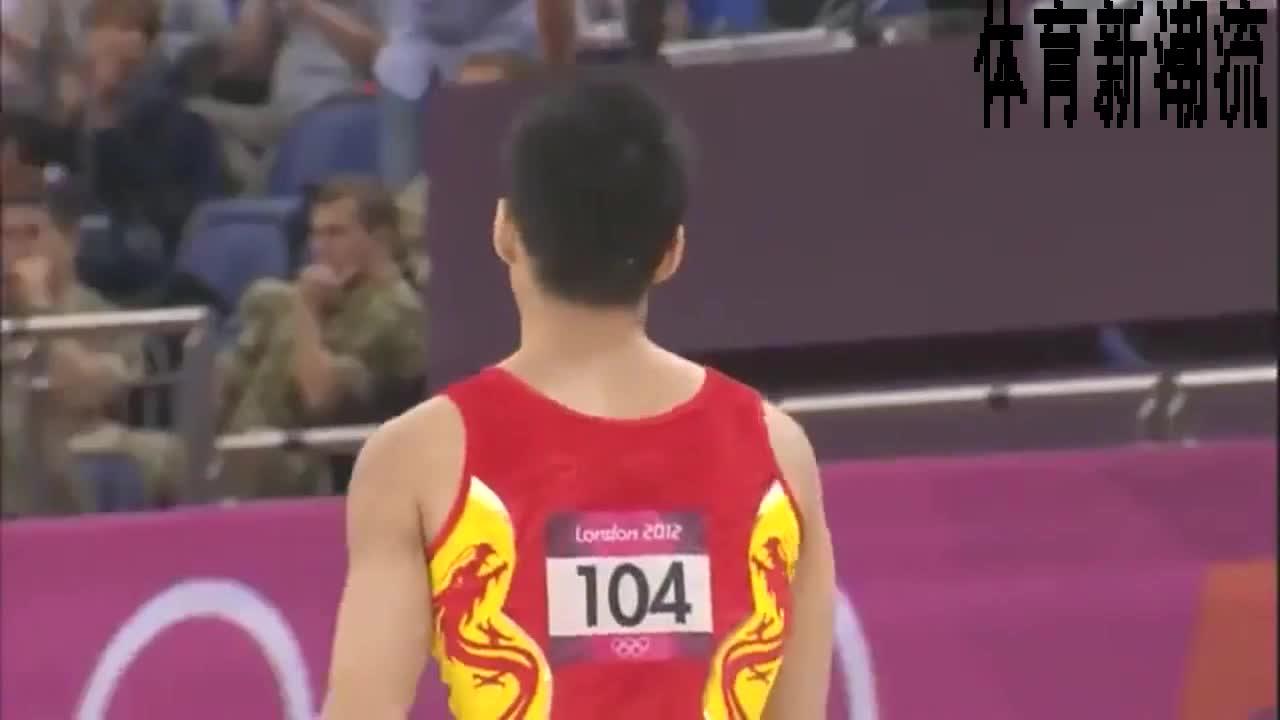 回顾伦敦奥运会,体操男团张成龙整套动作,连贯流畅完成不错。
