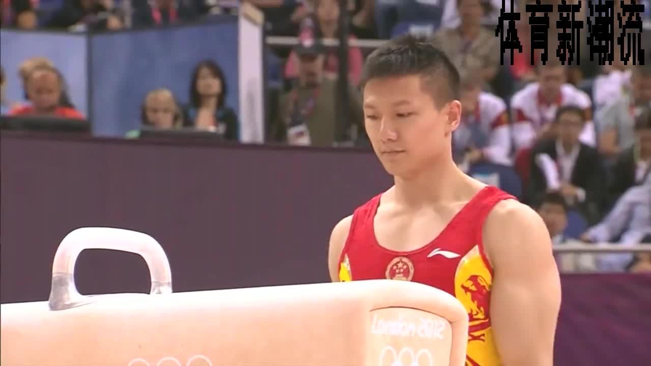 回顾伦敦奥运会,体操男团陈一冰动作平稳,流畅质量相当高。