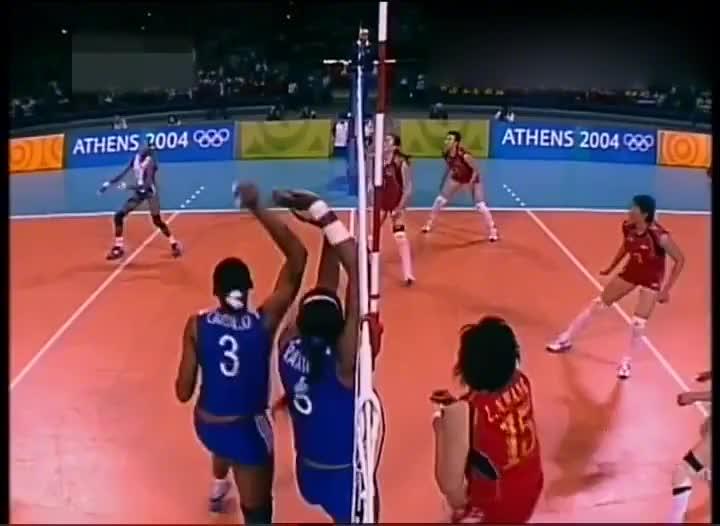经典回顾奥运女排半决赛 中国女排vs古巴女排 决胜局太刺激了