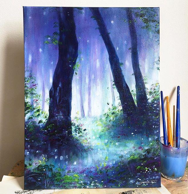 水彩绘画,超喜欢这种意境的感觉,画面太美了