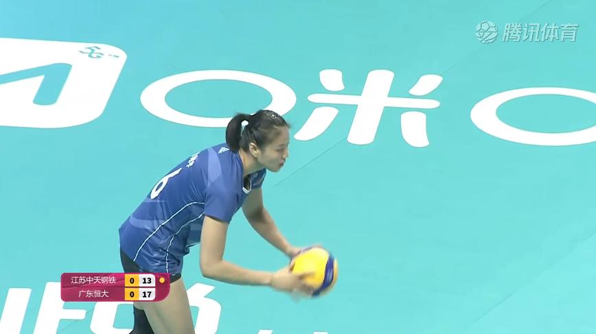 中国女排超级联赛第二阶段,恒大女排苦战五局3-2战胜江苏女排