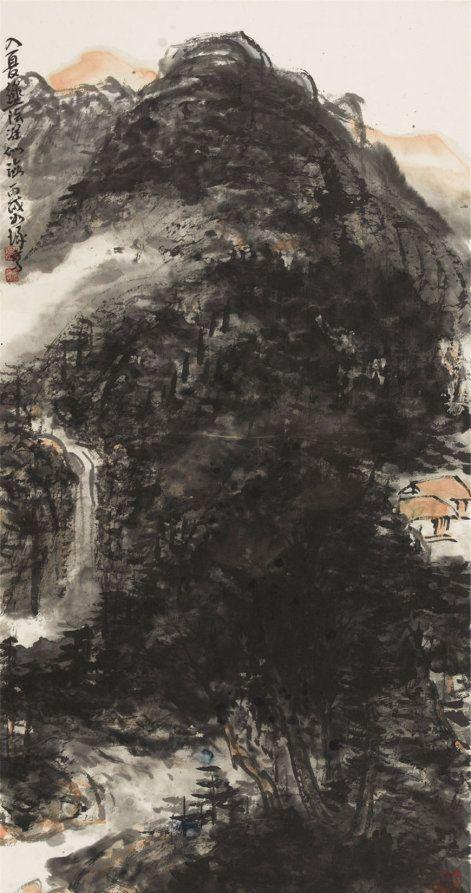 当代著名画家崔如琢山水画作品欣赏