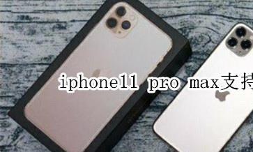 iphone11promax支持双卡双待吗