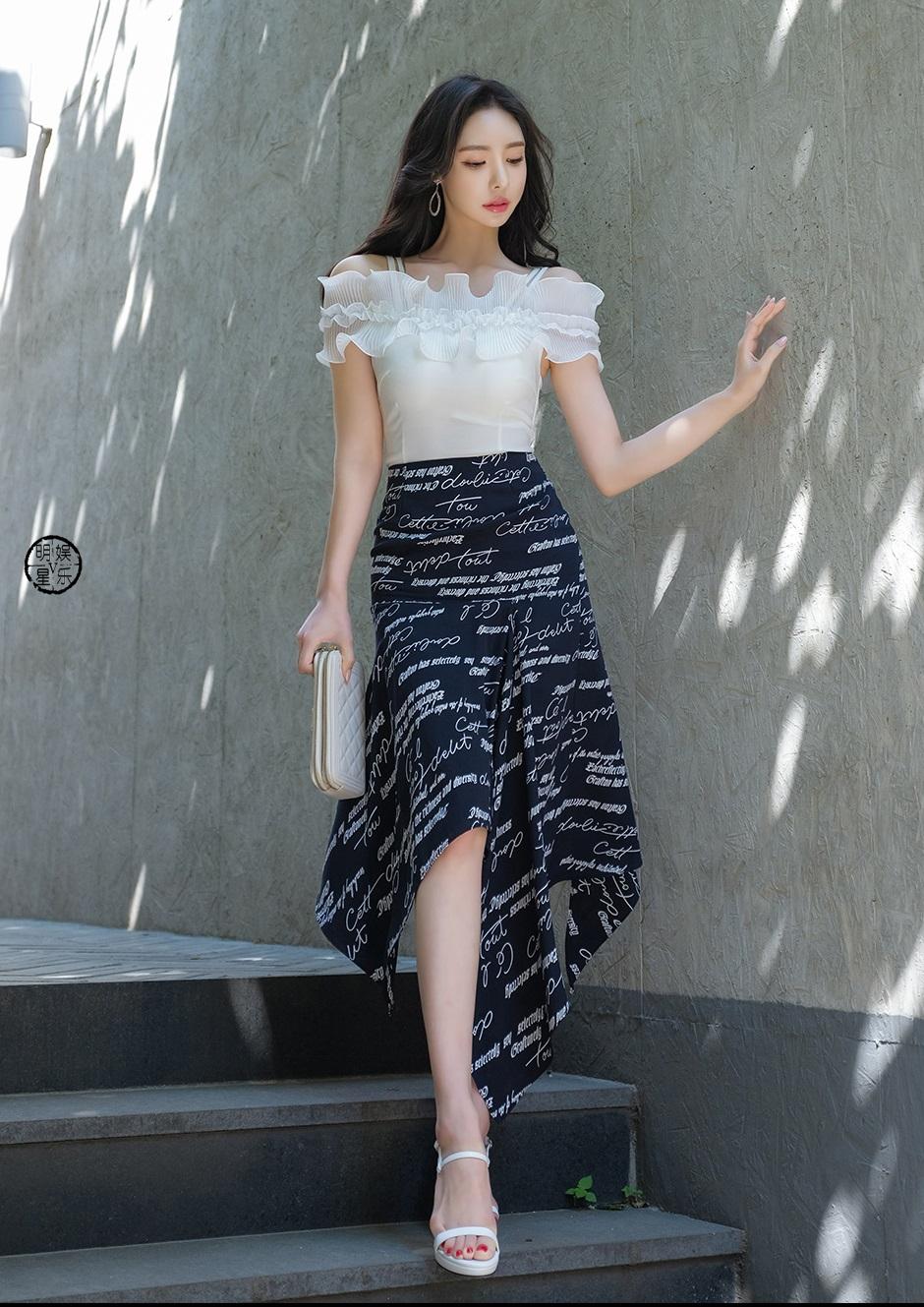 优雅长裙,大长腿最美