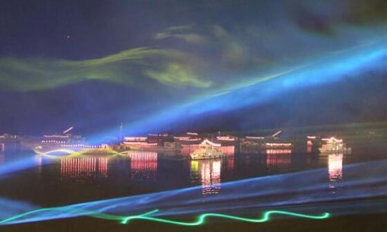 """巢湖渔火音乐之夜现""""超级月亮"""""""