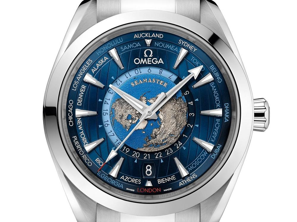 【新表】欧米茄Omega推出立体浮雕表盘钢壳版  世界时腕表