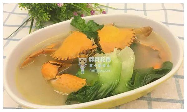 促进食欲——螃蟹白菜汤