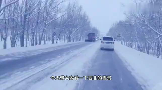 新疆之旅看那汽车在冰雪茫茫的戈壁上疾驰老司机看到都害怕