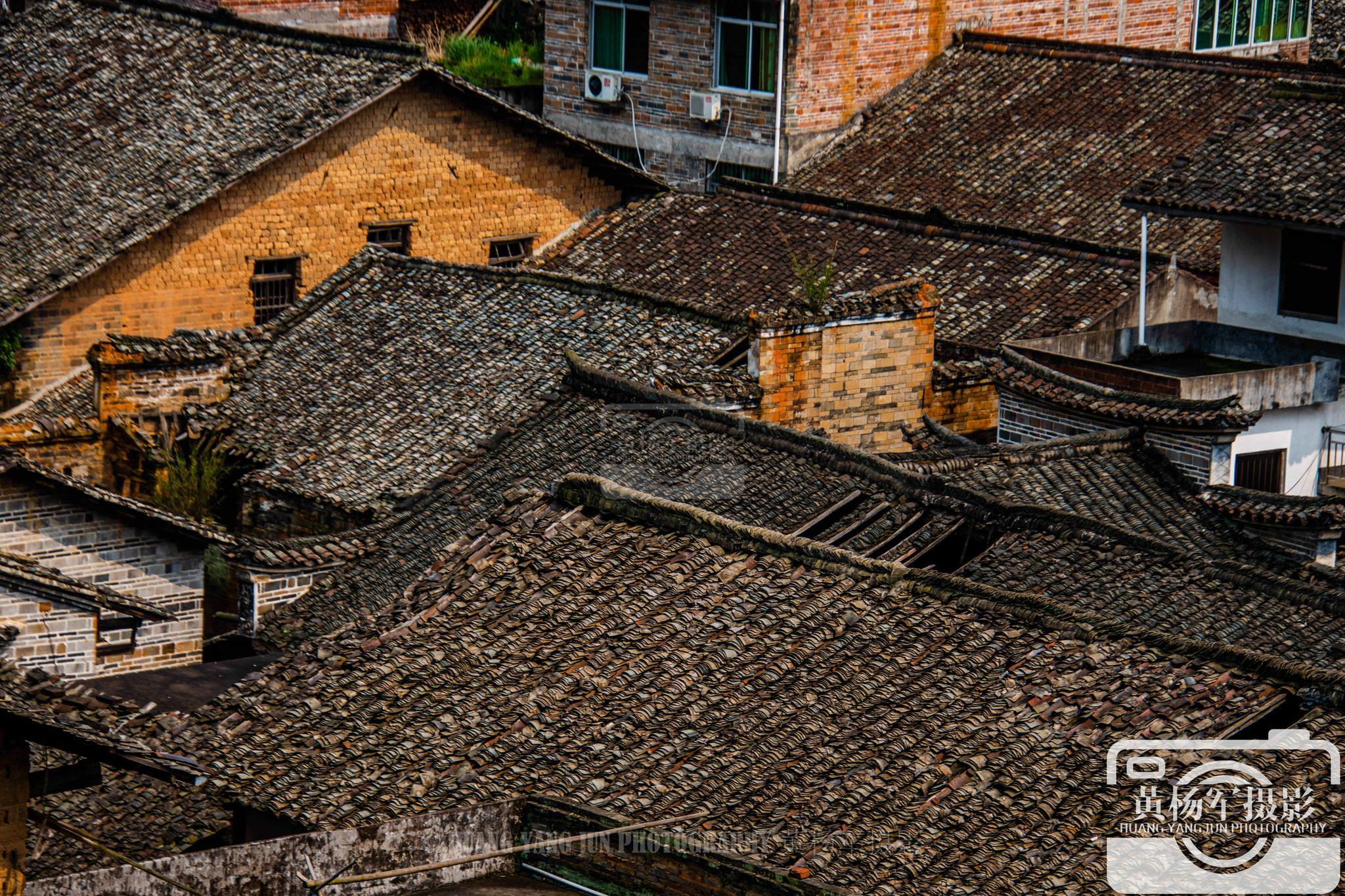 赣县区白鹭古村的明清古建筑,熟悉的客家老屋,浓郁的历史古韵