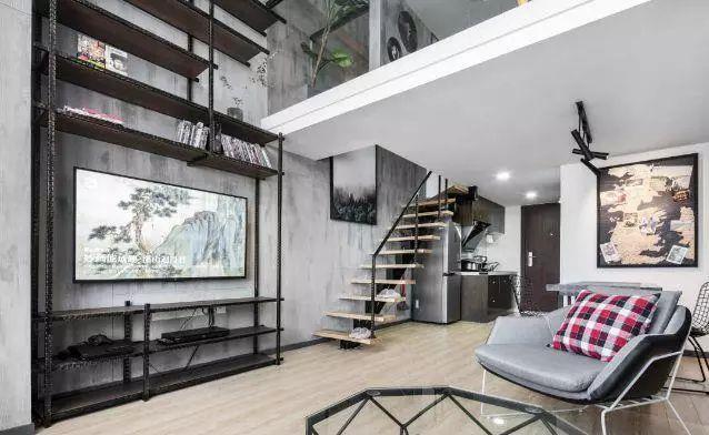 40平loft单身公寓改造后,