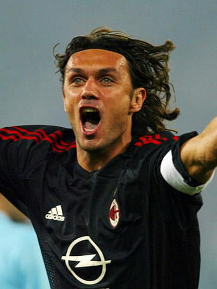 2002年9月28日意甲第4轮AC米兰客场1比1拉齐奥 马尔蒂尼进球庆祝