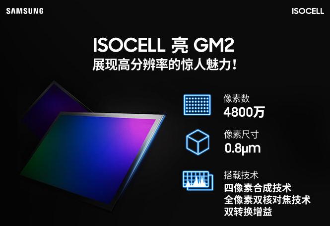 """三星ISOCELL GM2传感器""""官宣"""":48MP直出+全像素双核对焦"""